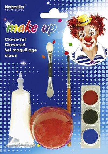 Amscan 5949 - Clown Set mit Schaumnase, Farbampel und 2 Applikatoren, weiß -