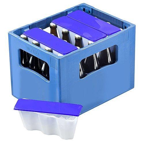 """4er Set Getränkekühler """"Ice2go"""" Bierkastenkühler Kühlung für Flaschen 0,5l - Einmalige Befüllung und Immerwieder Verwendbar (Blau)"""