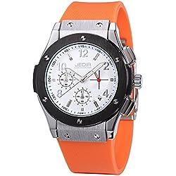 YPS Men Number&Nail Shape Scale Quartz Movement Multifunction Sub Dials Calendar Luminous Wrist Watch WTH5318
