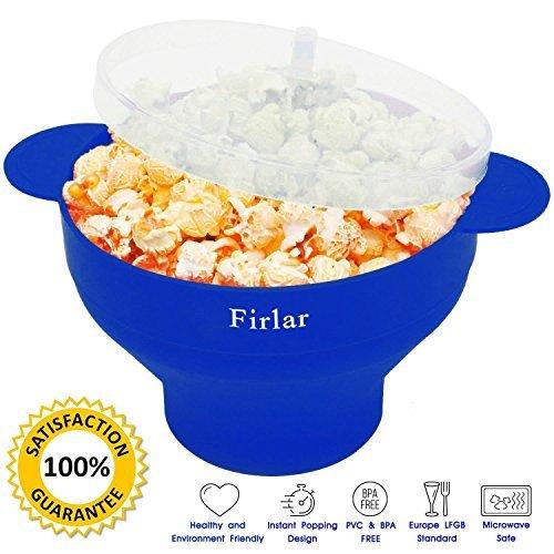 Firlar mikrowellen Popcorn Popper,Silikon Popcorn Schüssel mit Deckel, mikrowellen popcorn,popcorn - Schüssel Popcorn,