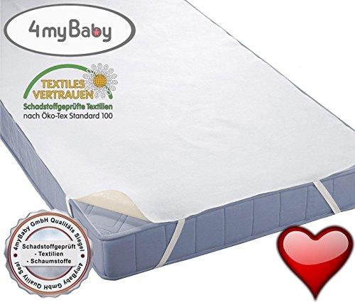 4myBaby BESONDERE TECHNIK Matratzenschutz Wasserdicht Matratzenschoner Wasserdichte Betteinlage MOLTON (100% Baumwolle) 60x120 cm bis 220x200 cm - 13 Größen (80x160)