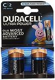 Duracell Ultra Power Alkaline Batterien mit Powercheck C 2er Pack