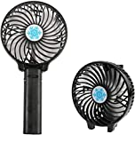 Mini USB - Battery Fan Air Cooling | Handheld Fan | Palm-Leaf Fan | Personal Cooling Fan | with Rechargeable Battery for Home,Office,Indoor & Outdoor Activities | Portable Foldable & Handy Fan By * Easy Shopping Days* (Colour May Vary)