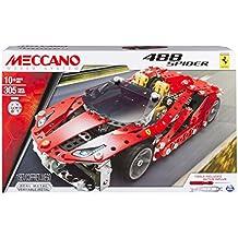 Meccano Ferrari 488 Spider Vehicle erector set 306pieza(s) - juegos de construcción (Vehicle erector set, 10 año(s), 306 pieza(s), Negro, Oro, Rojo, Plata, 50,8 mm, 200 mm)