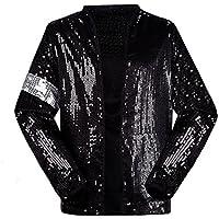 5fa3c8a012df Shuanghao Michael Jackson Costume Jacket Jacket per Bambino Adulto Billie  Jean Jacket Dance Cosplay Nero (