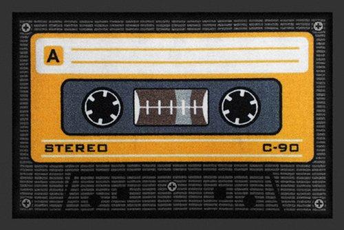 Zerbino a forma di audiocassetta 40 x 60 cm, arancione
