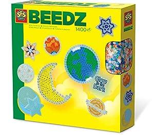 SES Creative Cuentas para Planchar fosforescentes para niños SES, Multicolor (06105)