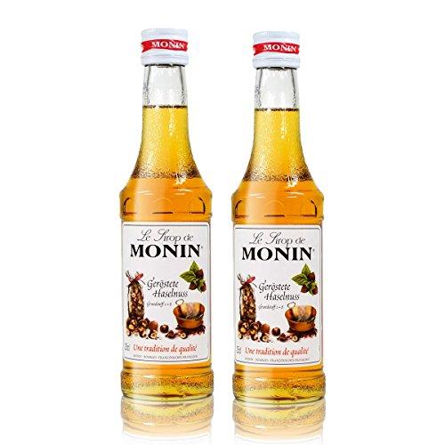 2x Monin Geröstete Haselnuss Sirup, 250 ml Flasche - für Cocktails, zum Kaffee oder Kochen