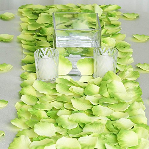Ndier Rosenblätter, künstlich, Rosenblätter, Rosa Simulation, für Dekoration Hochzeit 2000 Stück grün