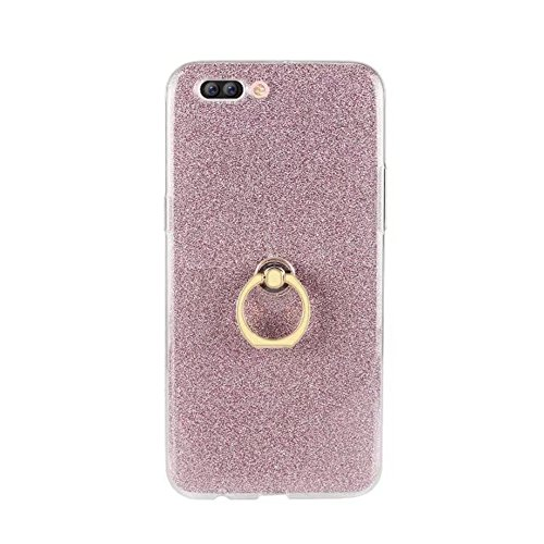 EKINHUI Case Cover Soft Flexible TPU Back Cover Case Shockproof Schutzhülle mit Bling Glitter Sparkles und Kickstand für OPPO R11 Plus ( Color : Blue ) Pink