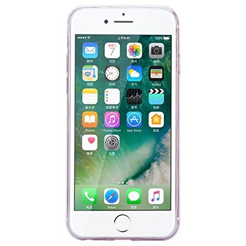 Custodia iPhone 7 Plus / iPhone 8 Plus, VemMore Case di Specchio Stella Morbido Trasparente Silicone TPU Cover con 3D Diamante Luccichio Strass Patterned Design Caso Backcase del Ultra Sottile Bling S Porpora