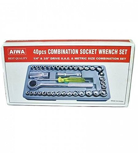 Aiwa 40pc Multi Purpose Combination Socket Wrench Set