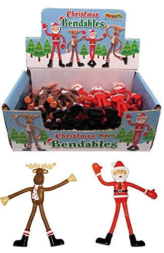 Express Goods Bendable Santa and Reindeer for Xmas Stocking Filler