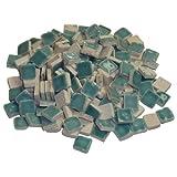 229302810x 10x 3mm 70g 150-tlg. Keramik glasiert Mosaik Fliesen, türkis