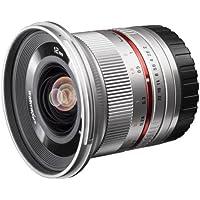 Walimex Pro 12mm 1: 2.0 SCC grand-angle (haute intensité de lumière, lentilles MC et nanorevêtement, capuche amovible) pour Micro Four Thirds objectif ure en argent