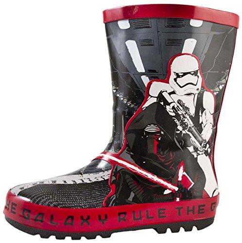 Botas de agua Wellington, para niños, de Star Wars, Darth Vader, tallas 33 a 40, color Negro, talla 24,5 EU Niño