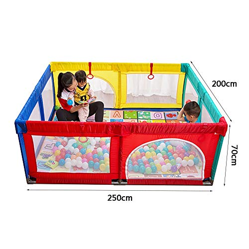 Playpen Extra Large Baby with Mat, Toddler Portable Playard Children's Game Fence, 200x250x70cm (Color : Style2)  ERRU
