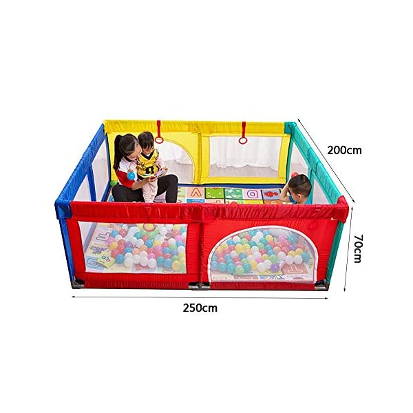 Playpen Extra Large Baby with Mat, Toddler Portable Playard Children's Game Fence, 200x250x70cm (Color : Style2) Playpen  2