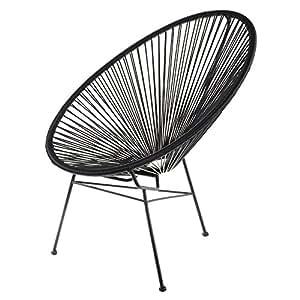 retro fauteuil acapulco bahia ext rieur noir cuisine maison. Black Bedroom Furniture Sets. Home Design Ideas