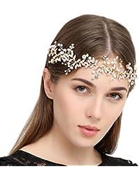 Hecho a mano cristales boda novia banda para la cabeza accesorios para el pelo headpieces