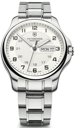 Relojes Hombre Victorinox Officer´s day date esf. plata caja con n V241551.1