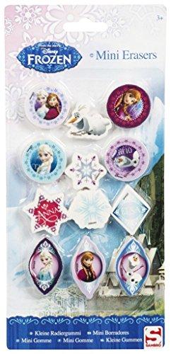 Preisvergleich Produktbild Disney Frozen Die Eiskönigin Radiergummi 12 teiliges Set