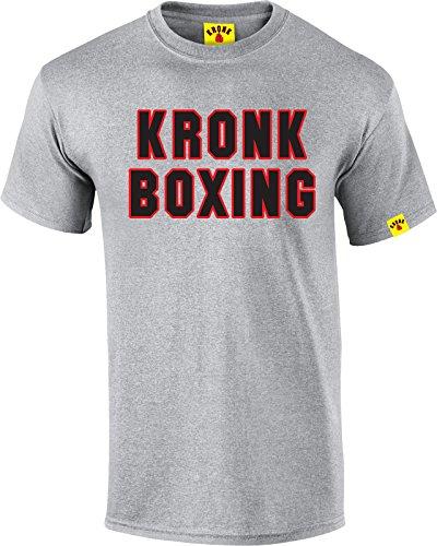 Kronk Gym mens short sleeve KRONK BOXING regular fit cotton t shirt Sport Grey