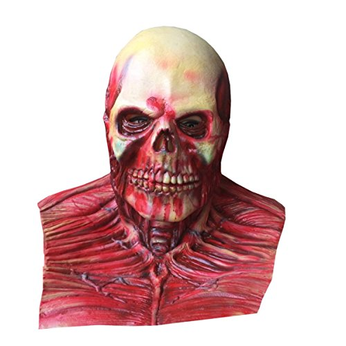 Nihiug Latex Ghost Cap Cos Halloween Horror Maske Spiel Requisiten Biochemische Krise Grab Des Grab Friedhof Party Party (Friedhof Ghost Kostüm)