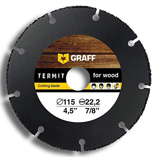 Trennscheibe GRAFF Termit 125mm / 115mm für Winkelschleifer (Flex), dünne Schnitt von Holz, Laminate, Kunststoff (115 mm)
