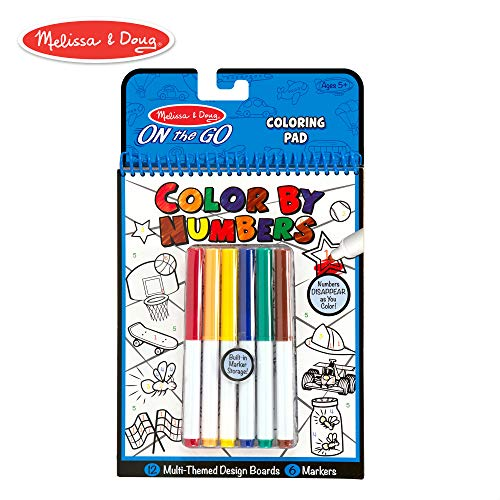 Melissa et Doug 5378 Color By Numbers - Bleu
