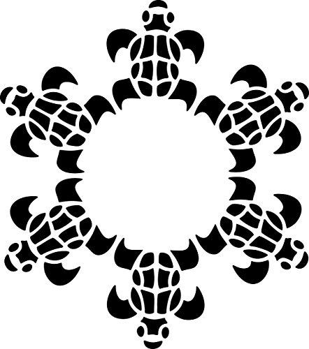 UNLIMITED STENCILS Airbrush Tattoo Schablone SCHILDKRÖTEN, TURTLES # 112 -