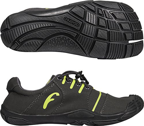 Freet Leap Chaussures de course Charcoal/Lime