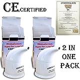 2X Himalayan Natural Salt Pipe/Inhaler + 200GM Salt Top Product
