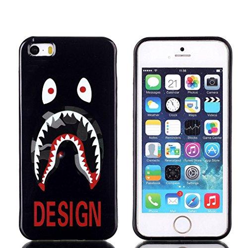 hyait® Case for Apple iPhone 5G/5S Soft Nachhaltige Gel TPU Silikon Skin Slim Case Cover Germany XS09 #0302