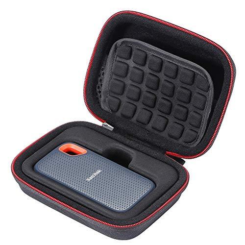 L3 Tech Custodia Rigida per SSD SanDisk 250GB / 500GB / 1TB / 2TB Extreme Portable SDSSDE60 Custodia di Trasporto Nero