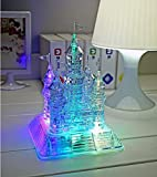 3D Assembly Puzzle,StillCool 3D Jigsaw Crystal Castle Puzzle, 3D Musical Puzzle with Light-Up Music,106pcs