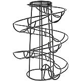 CORNERIA Spiraling Black Metal Freestanding Egg Skelter Dispenser Rack by CORNERIA