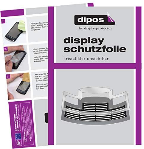 dipos I 2X Schutzfolie klar passend für Jura E80 ab 2015 Tropfblech Folie Displayschutzfolie E80 Display