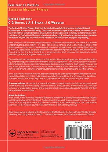 Medical Physics and Biomedical Engineering (Series in Medical Physics and Biomedical Engineering)
