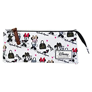 Disney Minnie Fashion Portatodo Estuche con 3 Cremalleras Escolar Làpices de Colores Necesser