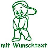 Babyaufkleber mit Name/Wunschtext - Motiv 155 (16 cm) - 20 Farben und 11 Schriftarten wählbar