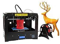 New Desktop 3D Printer Dual Extruder 3d Printers (Black)