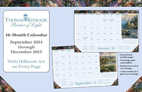 Thomas Kinkade Painter of Light 2014-15 Monthly Desk Pad Calendar by Andrews McMeel Publishing (2014-09-01)