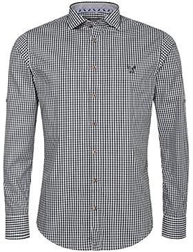 Gweih & Silk Trachtenhemd Body Fit Vinz in Dunkelgrün