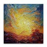 Quadratische Wand Kunstdrucke Poster Wolke Abstrakte Bunte Landschaft foto Leinwand für Wohnzimmer Dekorative Bild,4,20x20cm