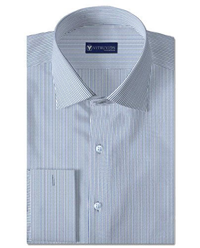 Vitruvien Men's Striped Formal shirt in Egyptian Giza Cotton