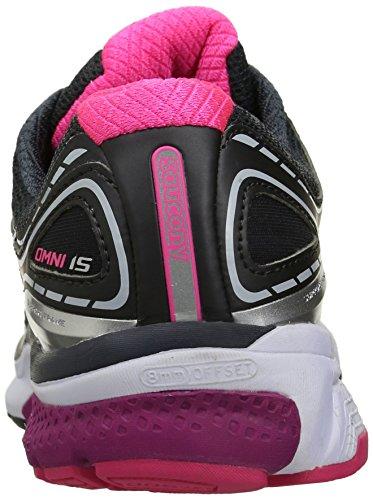 Saucony Omni 15, Chaussures de Running Entrainement Femme Multicolor (Grey/Purple/Pink)