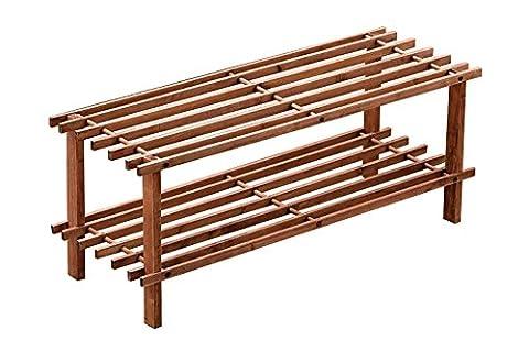 2Schritt Kontingent Lattenrost Schuhregal aus Holz Ständer Aufbewahrung Organizer natur Holz von (Cedar Schritt)