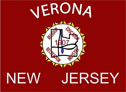 magFlags Flagge: Large Verona, New Jersey | The Township of The Borough of West Orange | Querformat Fahne | 1.35m² | 100x140cm » Fahne 100% Made in Germany