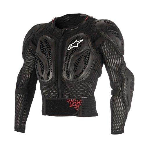 Alpinestars Youth Bionic Action Jacke, Jungen, schwarz / rot (Bmx-brustschutz)